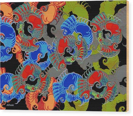Tainted Shrimp Wood Print