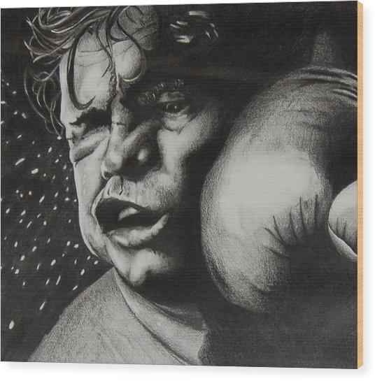 Take It Like A Man Wood Print by Joan Pollak