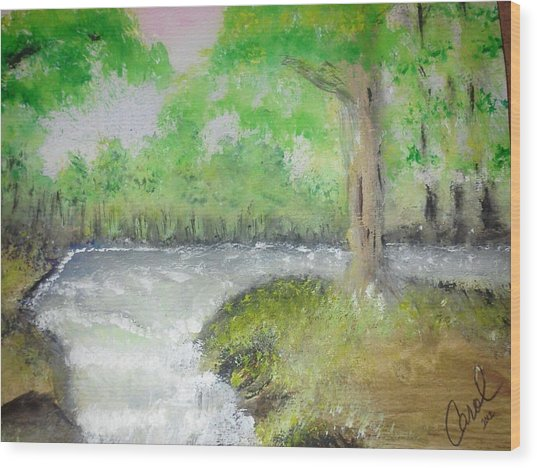 Take Me To The River Wood Print