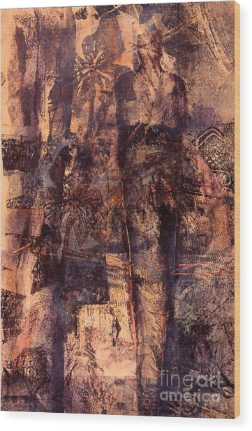Taking Position Series Xi Wood Print by Charles B Mitchell