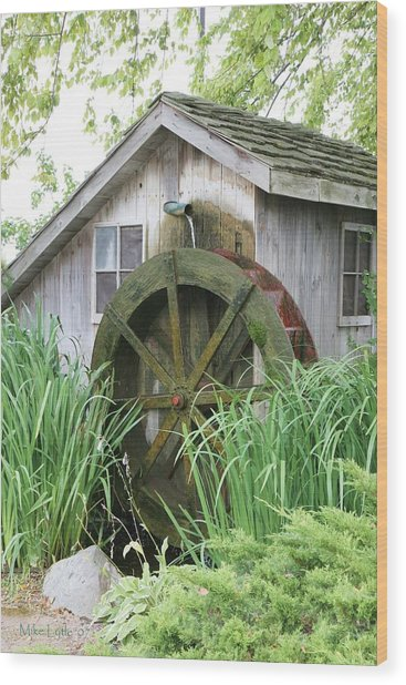 Tall Grass At The Mill Wood Print by Mike Lytle