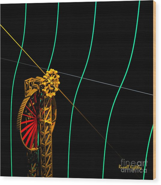Tangent Graph Math Engine Wood Print
