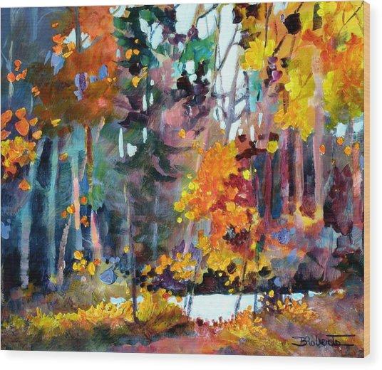 Tangled Woods Wood Print