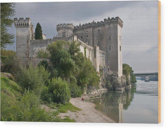Tarascon Castle On The Rhone Wood Print by Kent Sorensen