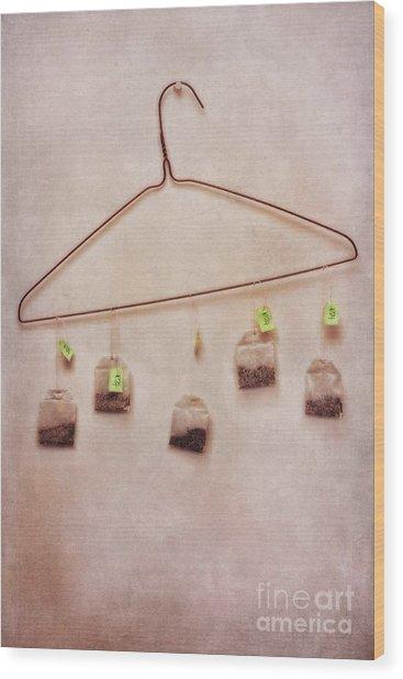 Tea Bags Wood Print