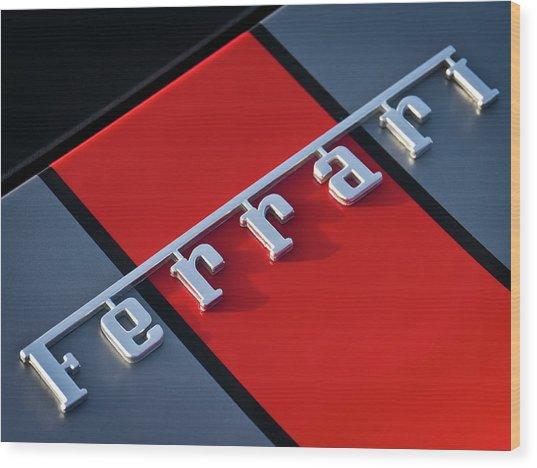 Team Ferrari Wood Print