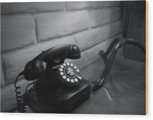 Telecommunications Wood Print by Dietrich Sauer