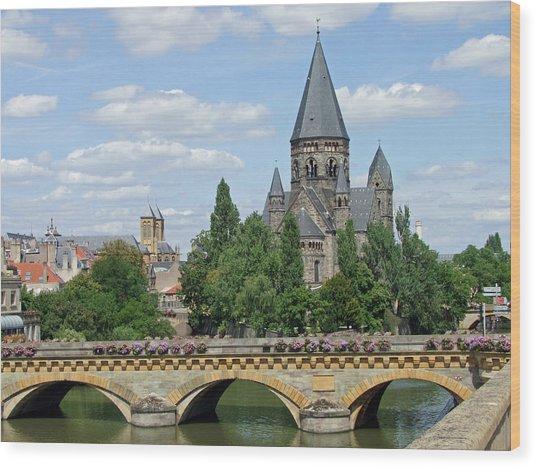 Temple Neuf De Metz Metz France Wood Print by Joseph Hendrix