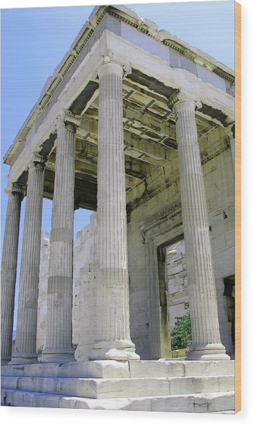 Temple Of Athena Entrance Wood Print