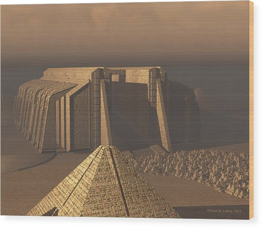Temple Of Neoegypt Wood Print