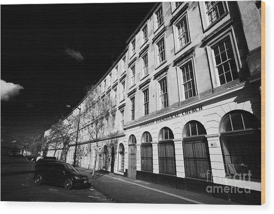 tenement block on minerva street finnieston Glasgow Scotland UK Wood Print by Joe Fox