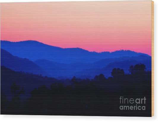 Tennessee Sunset Wood Print by EGiclee Digital Prints