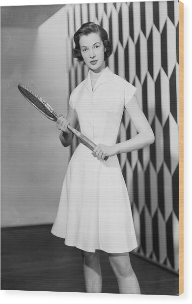 Tennis Outfit Wood Print by Chaloner Woods