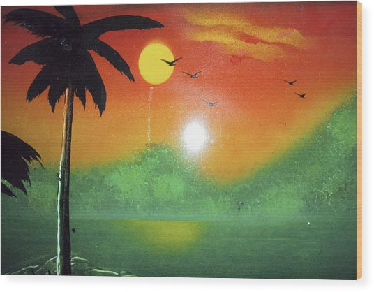 Tequila Sunrise Wood Print