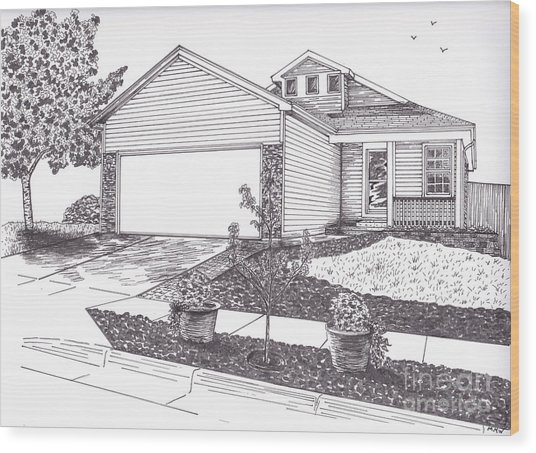 Teresa's House Wood Print