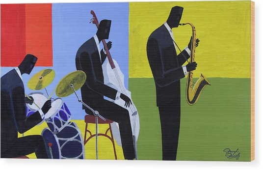 Terrace Jam Session Wood Print