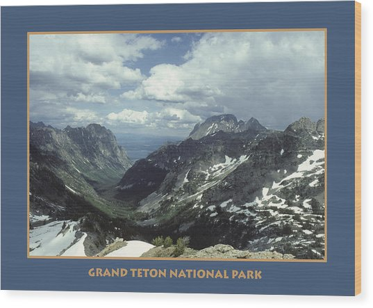 Teton Poster Wood Print
