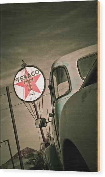 Texaco Wood Print by Merrick Imagery