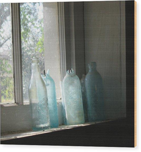 Texas Bottles Wood Print
