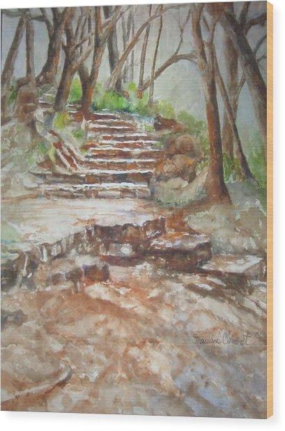 Texas Trail Wood Print