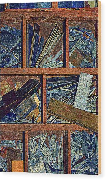 textures III Wood Print