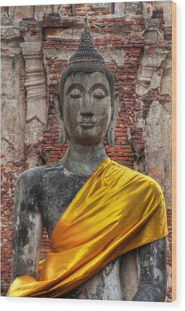 Thai Buddha Wood Print