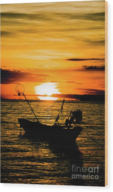 Thai Sunset Wood Print by Inhar Mutiozabal