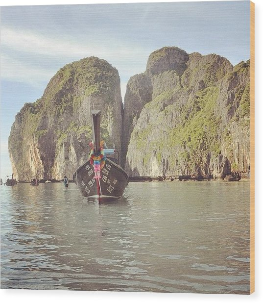 #thailand #phuket #mayabeach #mayabay Wood Print