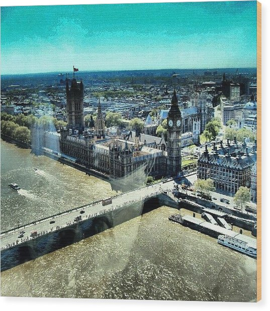 Thames River, View From London Eye | Wood Print