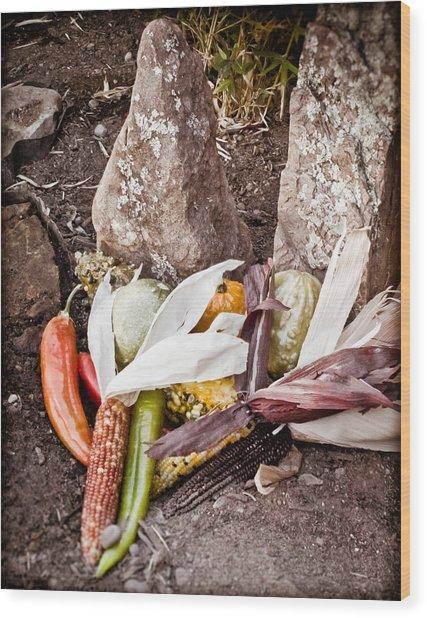 Albuquerque, New Mexico - Thanksgiving Wood Print