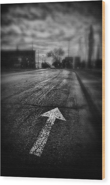 That Way  Wood Print by Russell Styles