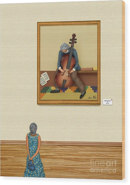 The Art Critic 2 Wood Print