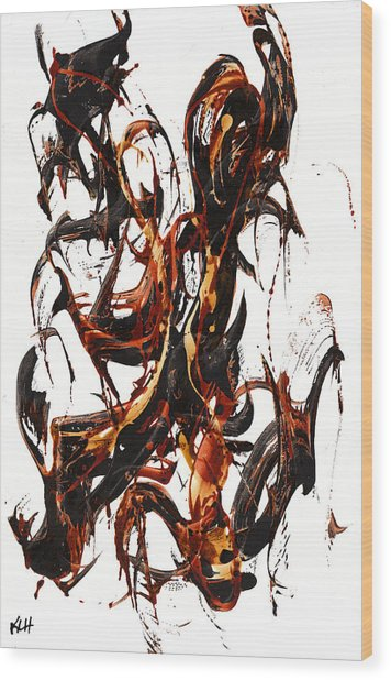 The Art Of Languishing Liquidly Well  22.120110 Wood Print