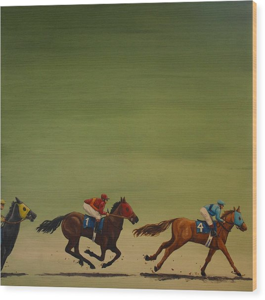 The Art Of Racing Wood Print by Jennifer Lynch