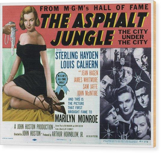 The Asphalt Jungle, Left Marilyn Monroe Wood Print by Everett