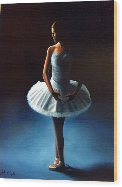 The Ballet Dancer 2 Wood Print by Dimitris Papadakis