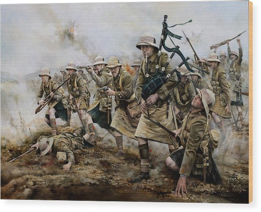 The Battle Of Achi Baba 1915 Wood Print by Chris Collingwood