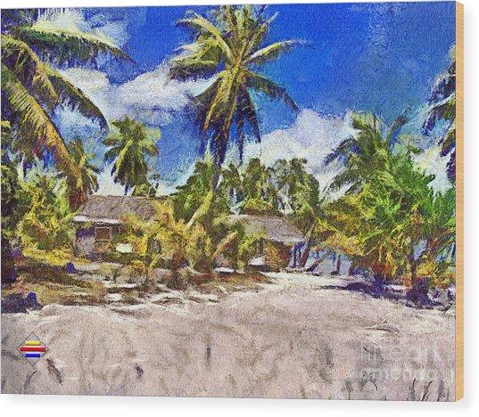 The Beach 02 Wood Print by Vidka Art