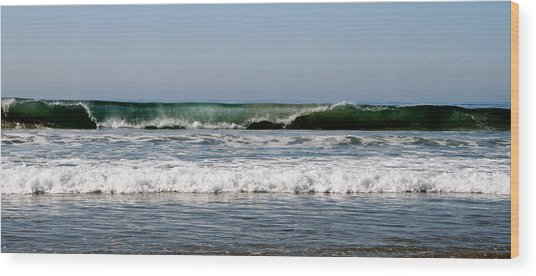 The Beach In Calabasas Ca Wood Print