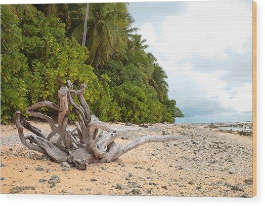 The Beach Of Pakin Wood Print by John Marelli