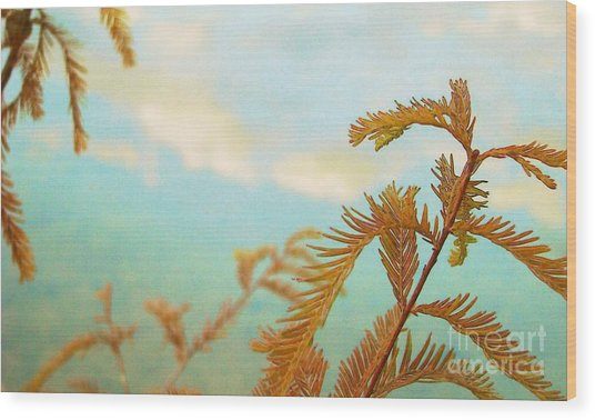 The Beauty Of Weeds Wood Print by Steven Lebron Langston