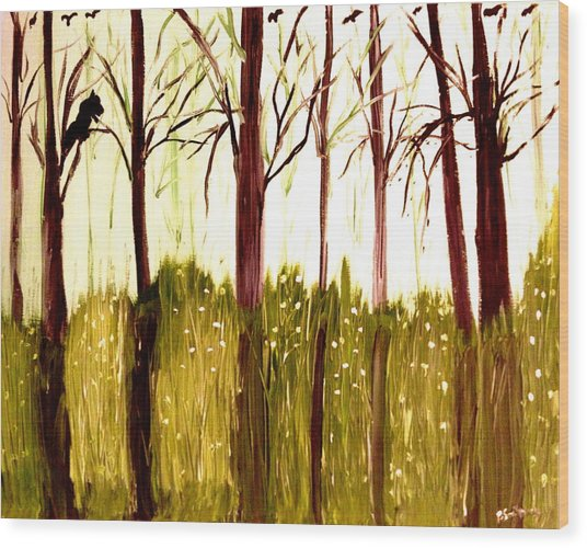 The  Beginning Of Winter Wood Print by Pretchill Smith