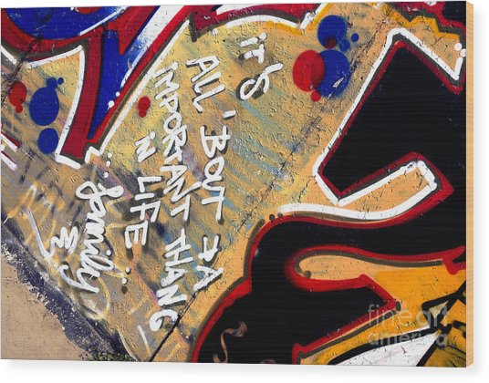 The Berlin Wall 4 Wood Print by Mark Azavedo