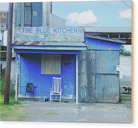 The Blue Kitchen Wood Print