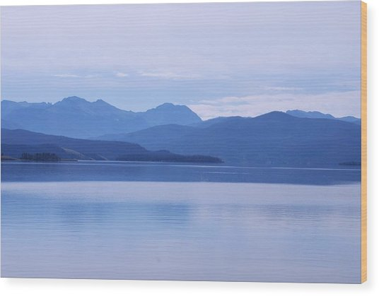 The Blue Shore Wood Print