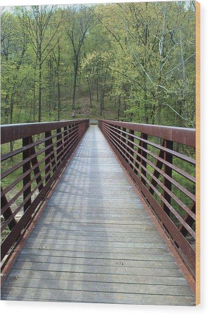 The Bridge That Divides Wood Print
