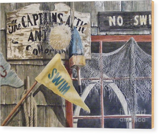 The Captains Attic Sold Wood Print
