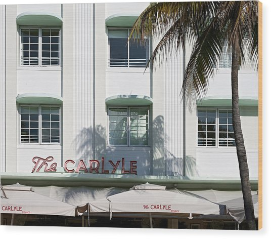 The Carlyle Hotel 2. Miami. Fl. Usa Wood Print
