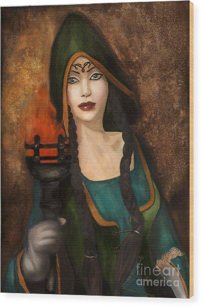 The Catacomb Wood Print by Alysa Fioretzi