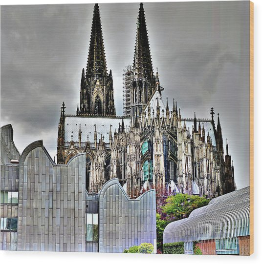 The Cathedral In Cologne On The Rhine Wood Print